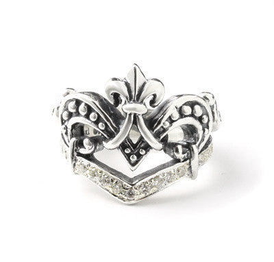 VERONIQUE TIARA RING w/ PAVÉ DIAMONDS
