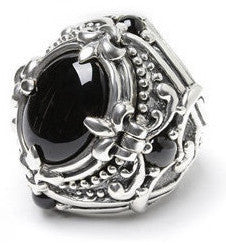 POISON RING w/ 5 CRYSTALS