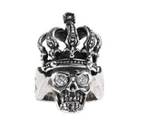 RO KING SKULL w/ CROWN & CZ EYES RING