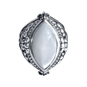 MARQUIS POISON RING w/ MOTHER OF PEARL