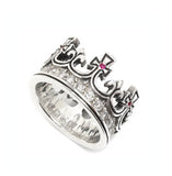 REGAL CROWN ROYALE RING w/ DIAMOND BAND & RUBIES OR SAPPHIRES