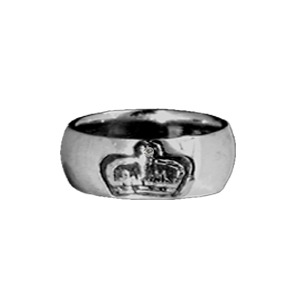 ROYAL CROWN BAND RING w/ 1 DIAMOND IN CROWN