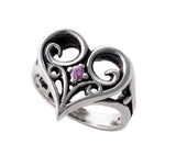 ALLEGRA HEART RING w/ CZ
