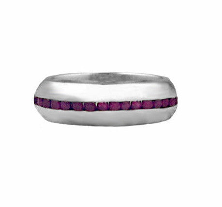 PLAIN RING w/ RUBIES OR SAPPHIRES
