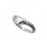 RIBBON TIARA BAND RING w/ HEART