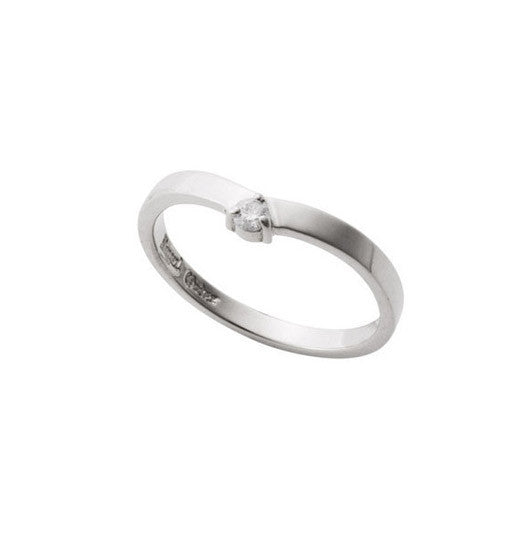 DELICATE TIARA BAND RING w/ 1 DIAMOND