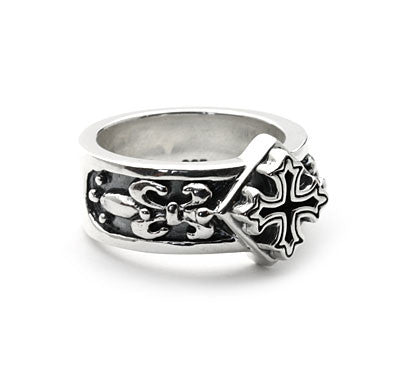 TEMPLE CROSS BAND RING