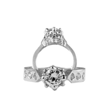 VERSAILLES RING w/ CENTER CZ & CZ SIDES