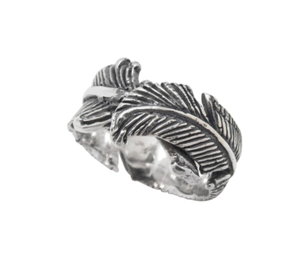 LARGE FEATHER BAND RING