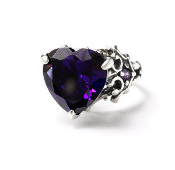 LARGE AMELIA HEART RING w/ CZ