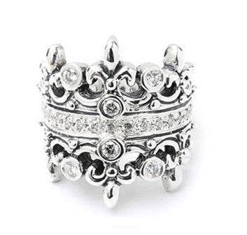 DOUBLE TIARA RING ALL DIAMONDS