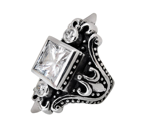 MAGESTIQUE SQUARE RING w/ CZS
