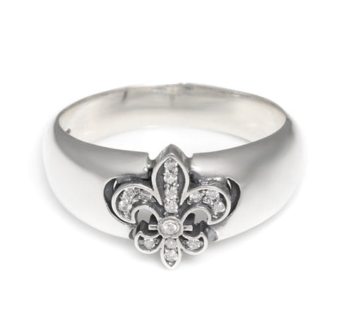 SERENDIPITY FLEUR DE LIS RING w/ DIAMONDS