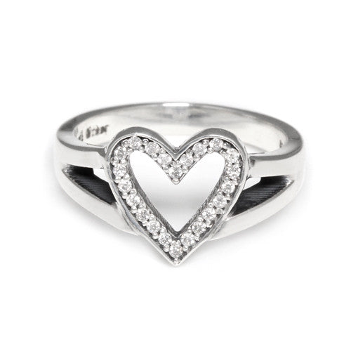 SERENDIPITY HEART RING w/ DIAMONDS