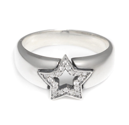 SERENDIPITY STAR RING w/ DIAMONDS
