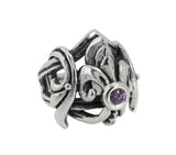 SMOOTH FLEUR DE LIS RING w/ CENTER STONE
