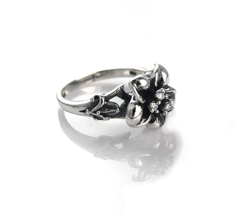 HAWAIIAN DREAM PLUMERIA RING w/ CZ