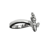 THICK TIARA BAND RING w/ TINY QUEEN BEE
