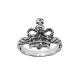 RIBBON TIARA BAND RING w/ CROWN