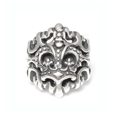 BIG FLEUR DE LIS RING w/ CROWN
