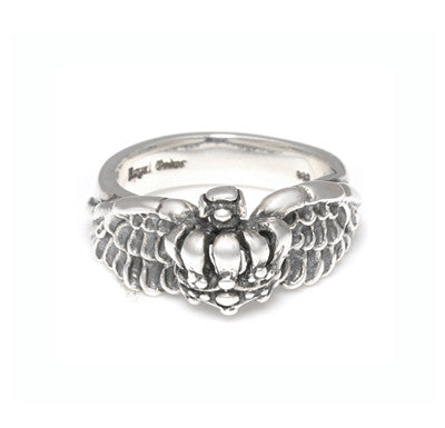 HALF CROWN RING w/ WINGS