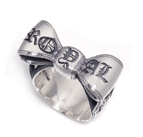 LOGO RIBBON BOW RING