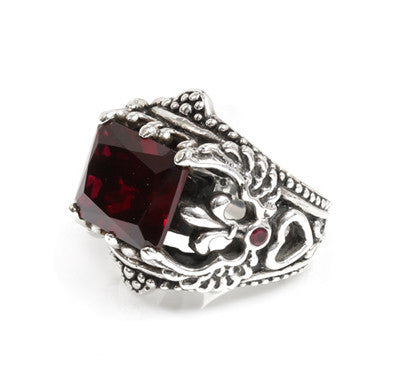 CORONET WINGED HEART RING