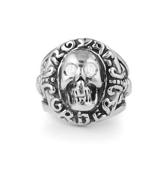SKULL w/ CZ EYES RING