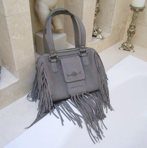 ROYAL ORDER RETRO FRINGE LEATHER HANDBAG