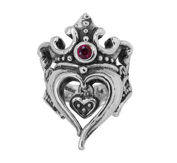 FIONA HEART RING w/ CHARM