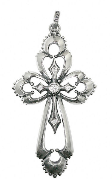 CATHEDRAL CROSS PENDANT w/ CZ