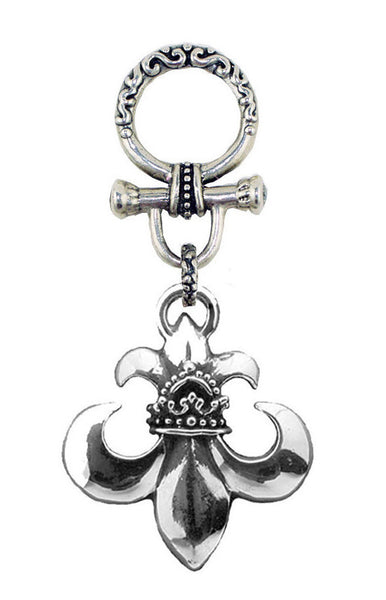 ROYAL ORDER FLEUR DE LIS w/ CROWN & TOGGLE PENDANT