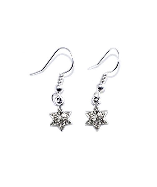 TINY STAR EARRINGS w/ PAVÉ DIAMOND