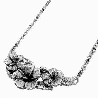 HIBISCUS BIB NECKLACE ON CHAIN