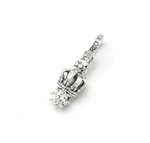 TINY CROWN PENDANT w/ CROWN SET CZ