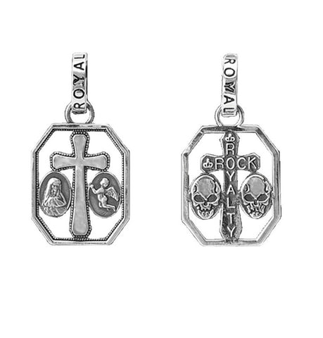 ROCK ROYALTY CROSS CHARM