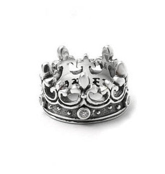 FLEUR DE LIS CROWN RING w/ DIAMONDS