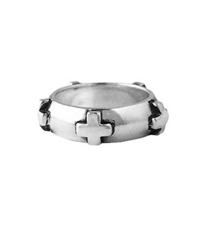 CROSS BAND PLAIN RING