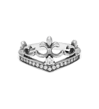 DELICATE TIARA RING w/ 1 CENTER CZ & PAVÉ CZS
