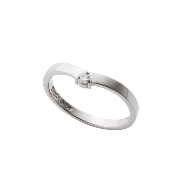 DELICATE TIARA BAND RING w/ CZ