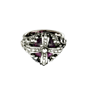 EDWARDIAN CROWN RING w/ CABACHON