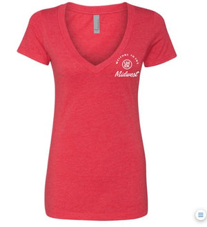 Women's Welcome to the MidWest Comfort V-Neck T-Shirt