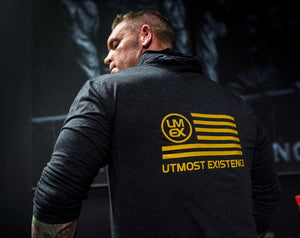 Utmost American Black and Gold Series T-Shirt Hoodie