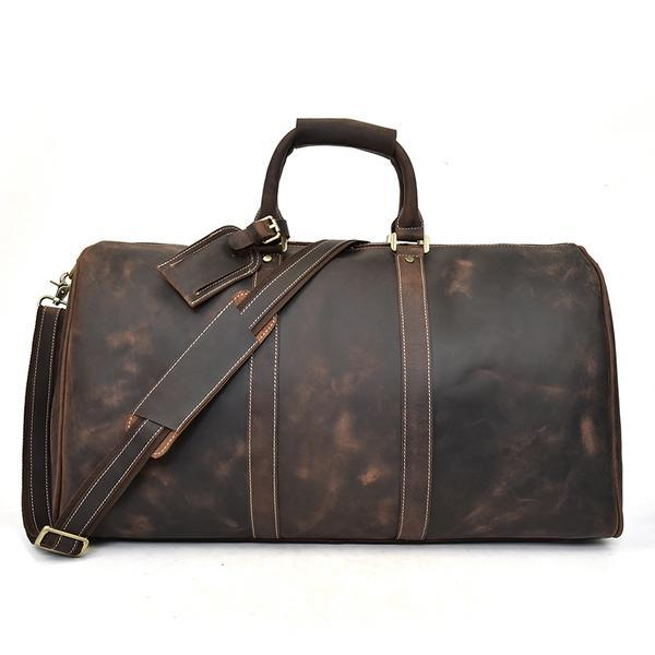 Handmade Leather Duffel Bags