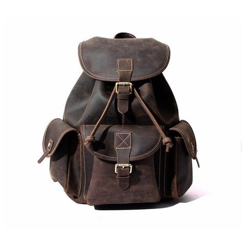 LESS FAVORITE PRODUCTS AT STEEL HORSE LEATHER CO. 1-      The Asmund Backpack | Genuine Leather Rucksack