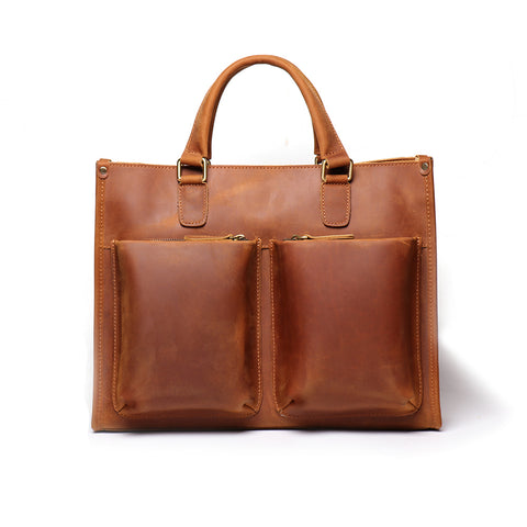 The Dagmar Leather Briefcase | Vintage Leather Messenger Bag