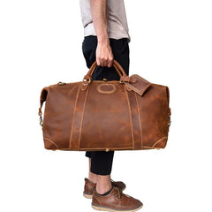 The Eira Duffle Bag | Vintage Leather Weekender