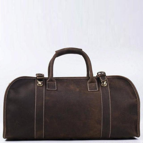 The Erlend Duffle Bag | Vintage Leather Weekender - STEEL HORSE LEATHER, Handmade, Genuine Vintage Leather