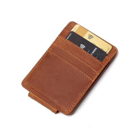 The Walden | Handmade Leather Front Pocket Wallet with Money Clip