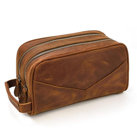 The Nomad Toiletry Bag | Genuine Leather Travel Toiletry Bag - STEEL HORSE LEATHER